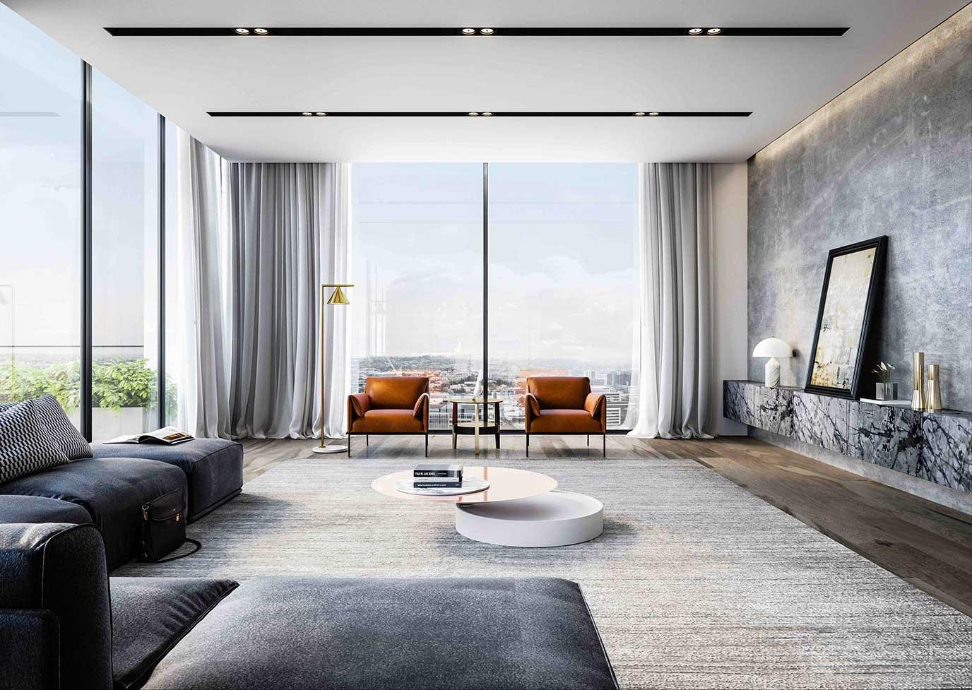 St Pauls Terrace modern apartment interior views